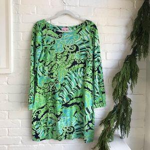 Lilly Pulitzer Long Sleeve Medium Dress Silk